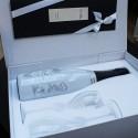 champagne dîner en blanc soirée en blanc