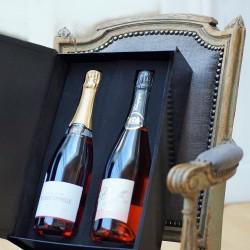 Duo de champagnes rosés