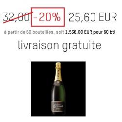 Champagne LANSON pas cher -20% 25,60 Euros Livraison gratuite