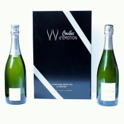 Coffret cadeau avec 2 bouteilles de Champagne Grand Cru