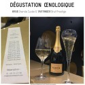 Tasting Champagne Louise de Pommery millésime vintage Carte Jaune de Veuve Clicquot