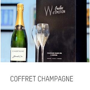 coffret cadeau champagne et flutes